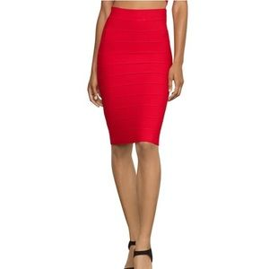 BCBG Red Pencil Skirt